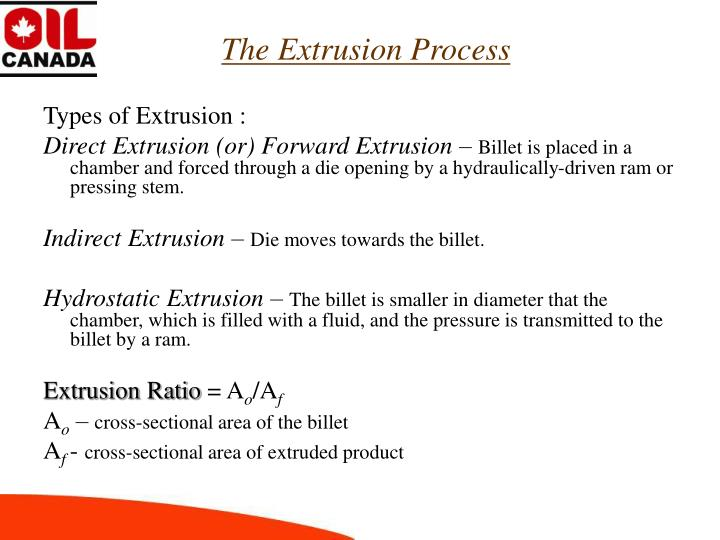 The Extrusion Process