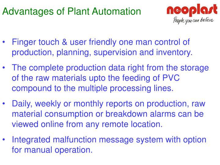 Advantages of Plant Automation