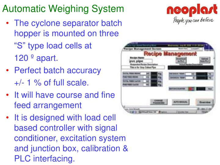 Automatic Weighing System