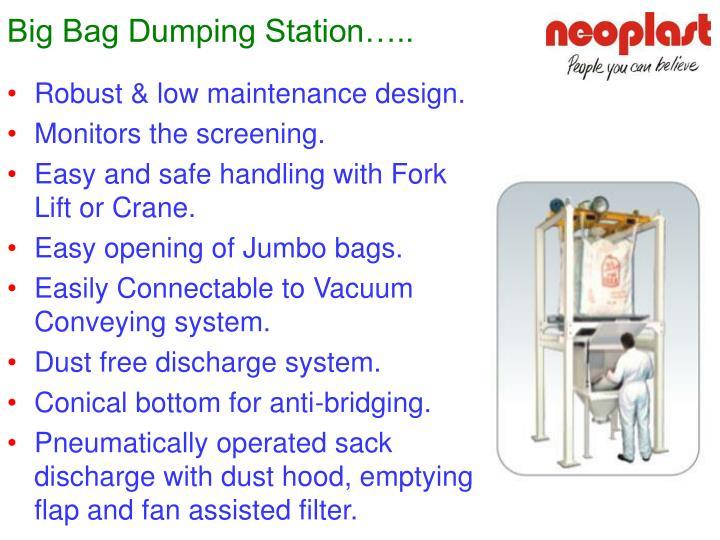 Big Bag Dumping Station…..