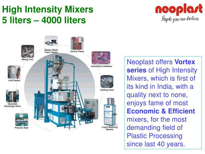 High Intensity Mixers