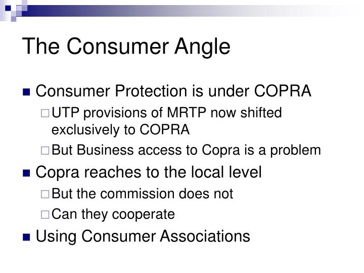 The Consumer Angle