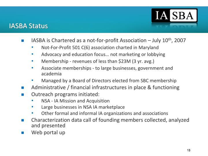 IASBA Status
