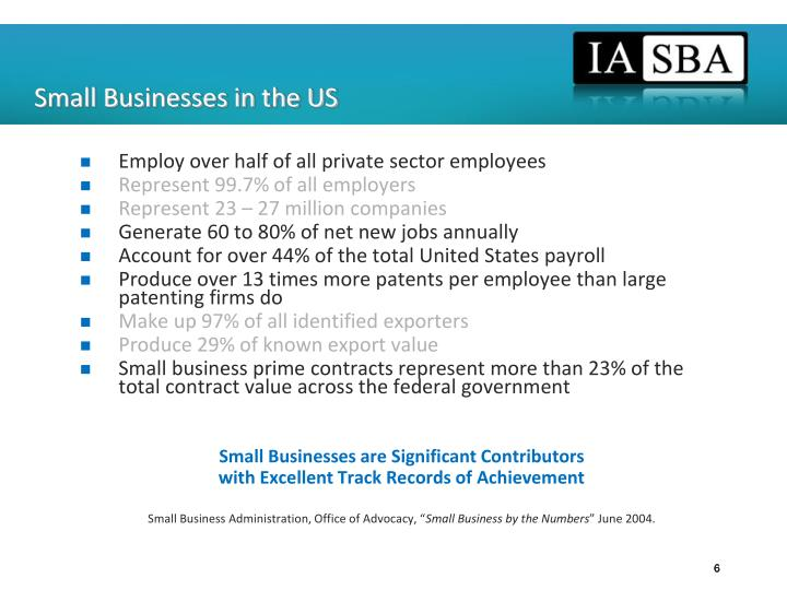 Small Businesses in the US