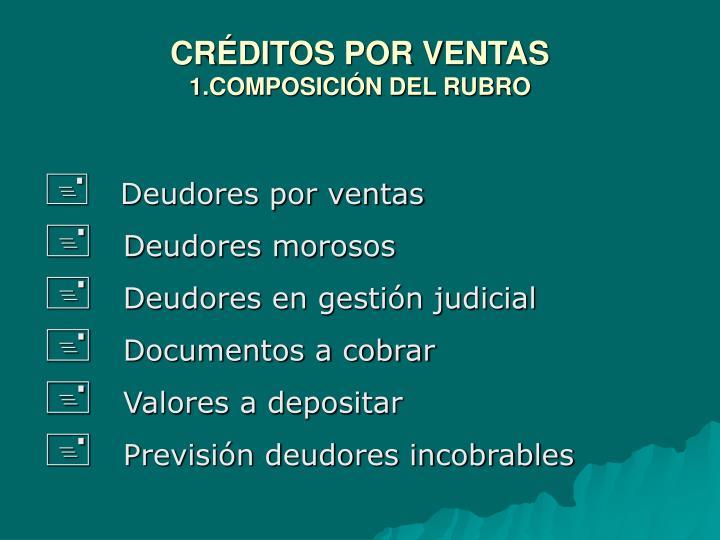 CRÉDITOS POR VENTAS