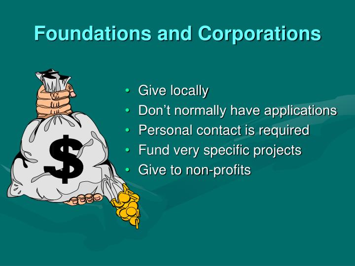 Foundations and Corporations