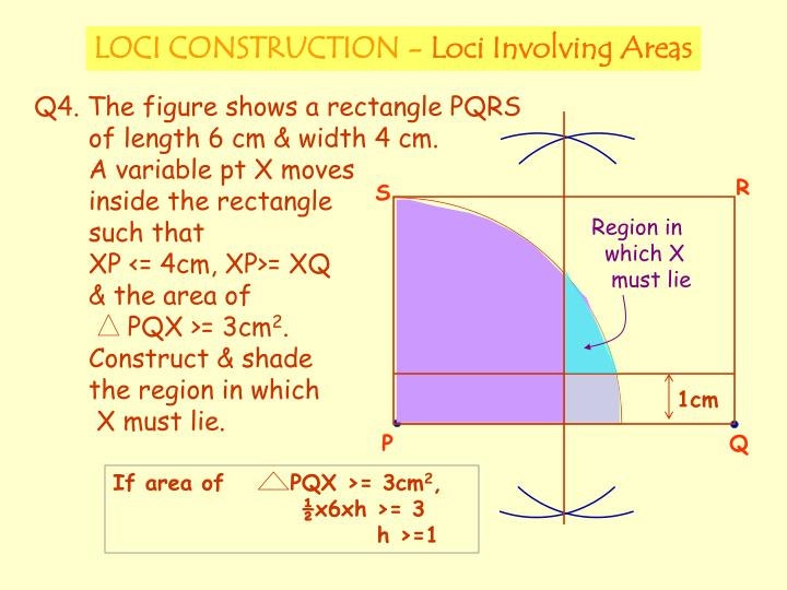 If area of       PQX >= 3cm