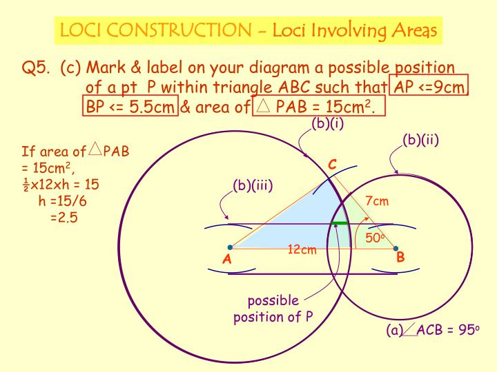If area of    PAB = 15cm