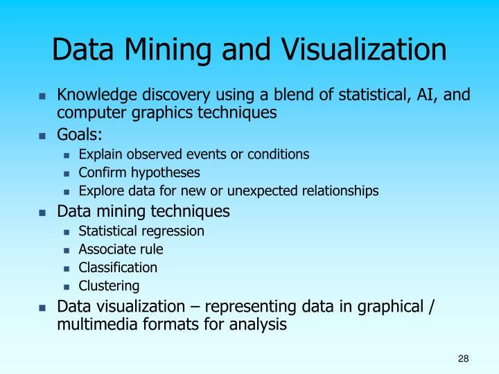 Data Mining and Visualization