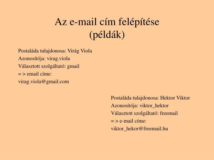 Postaláda tulajdonosa: Virág Viola