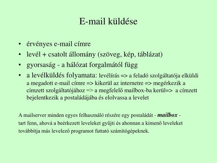 E-mail küldése