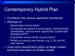 contemporary hybrid plan