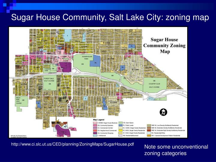Sugar House Community, Salt Lake City: zoning map