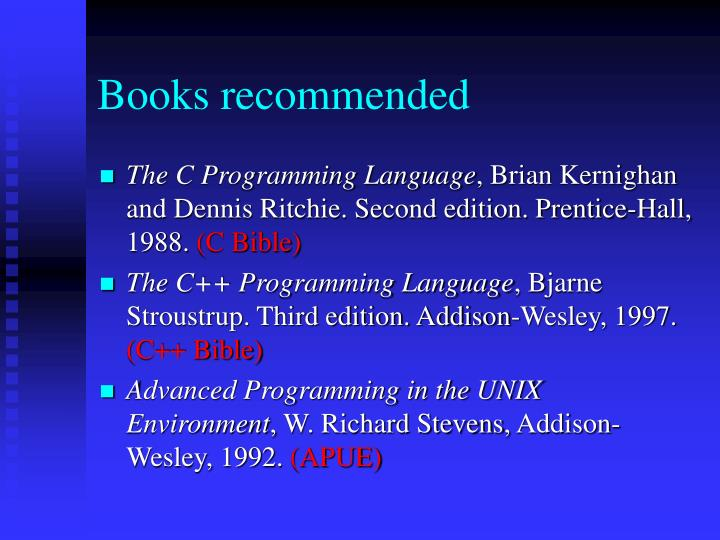 Books recommended