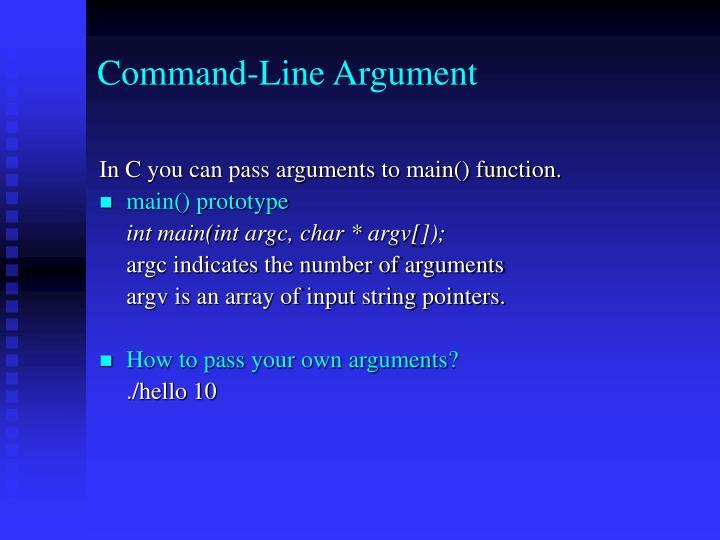 Command-Line Argument