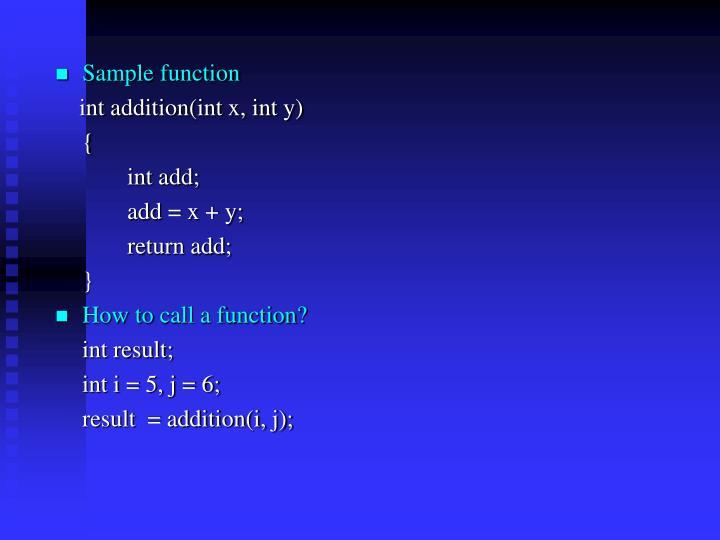 Sample function