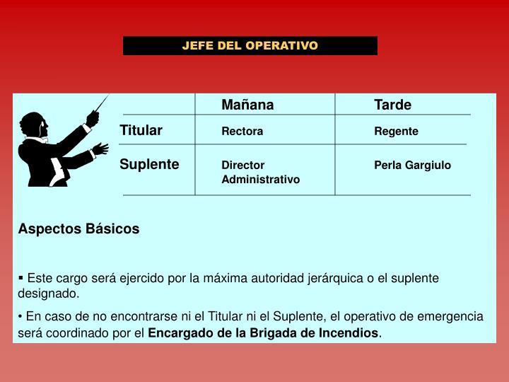 JEFE DEL OPERATIVO