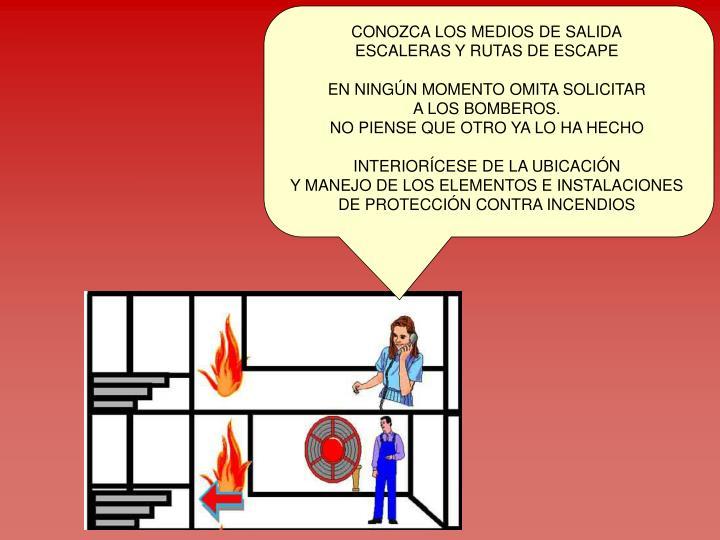 CONOZCA LOS MEDIOS DE SALIDA