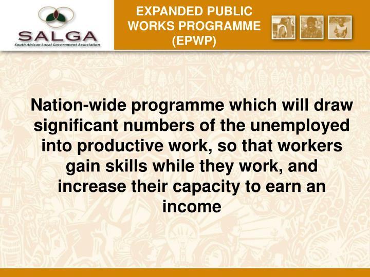 Expanded public works programme (