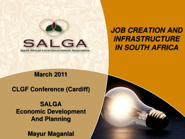 job creation and infrastructure in south africa