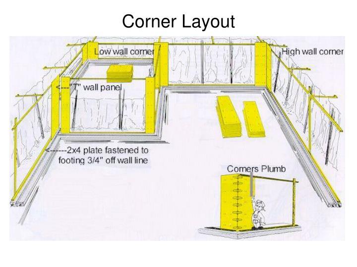 Corner Layout
