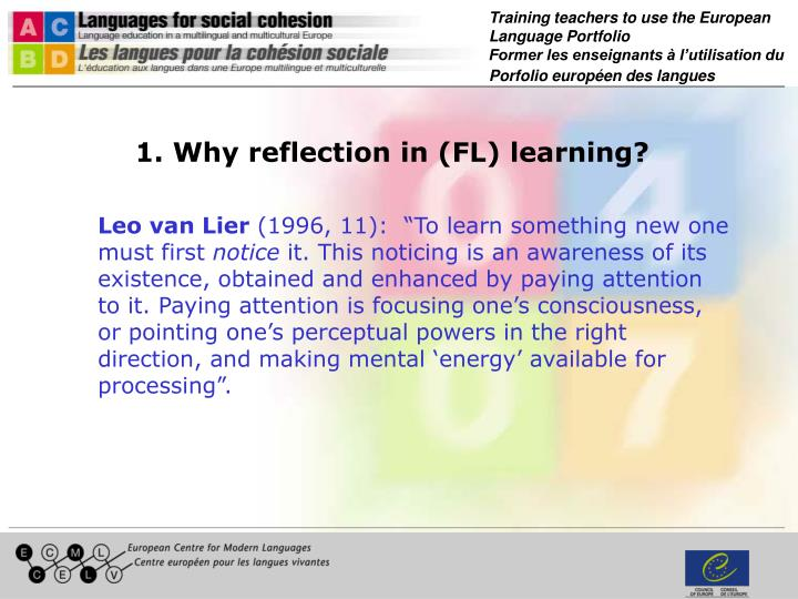 1. Why reflection in (FL) learning?