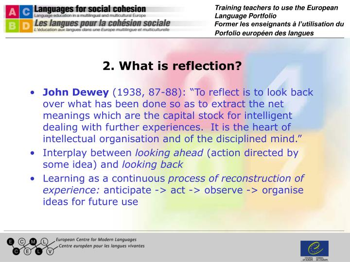 2. What is reflection?