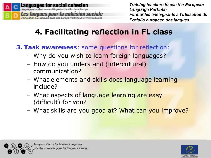 4. Facilitating reflection in FL class