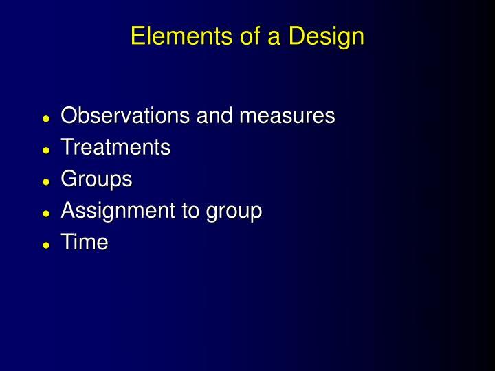 Elements of a Design