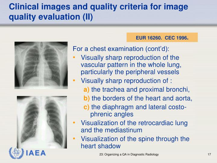 Clinical images and quality criteria for image quality evaluation (II)