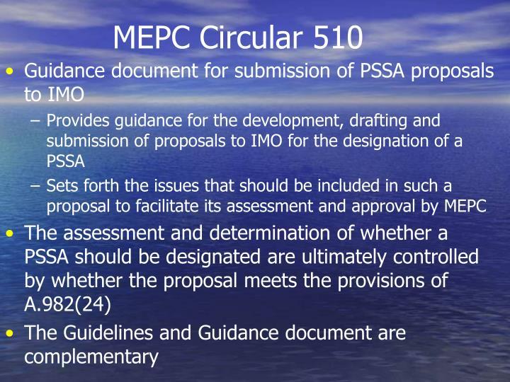 MEPC Circular 510