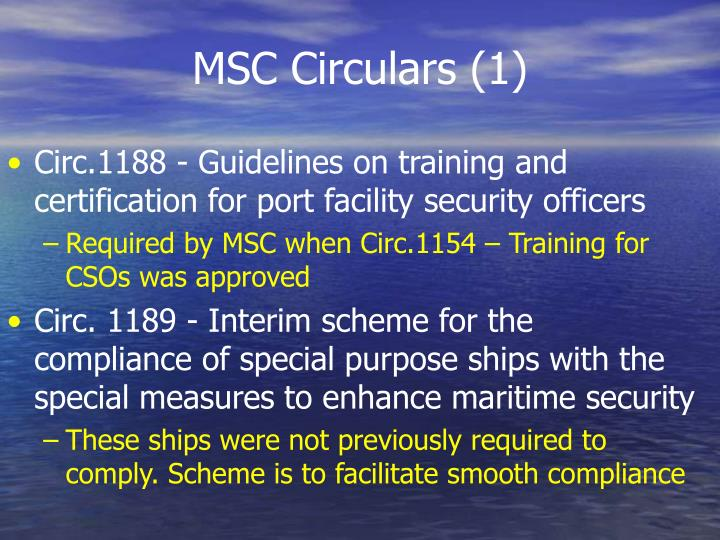 MSC Circulars (1)