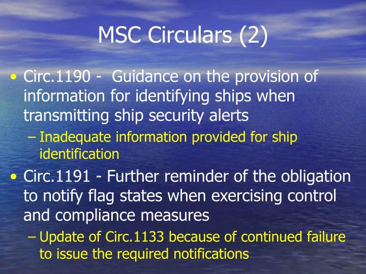 MSC Circulars (2)