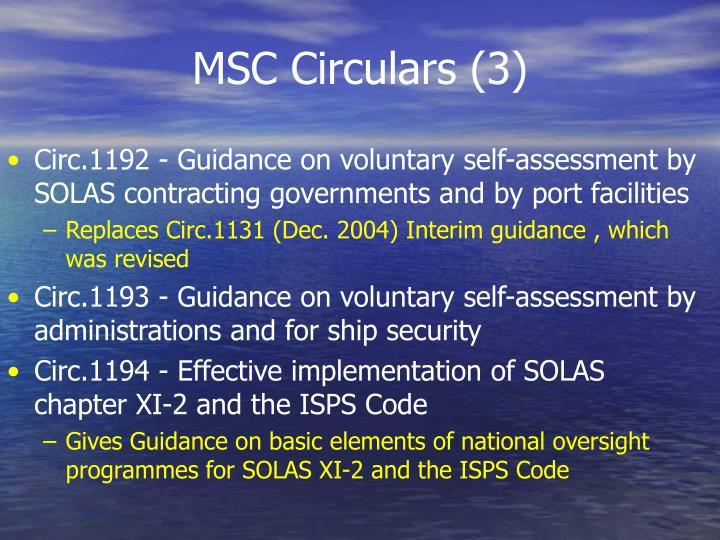 MSC Circulars (3)
