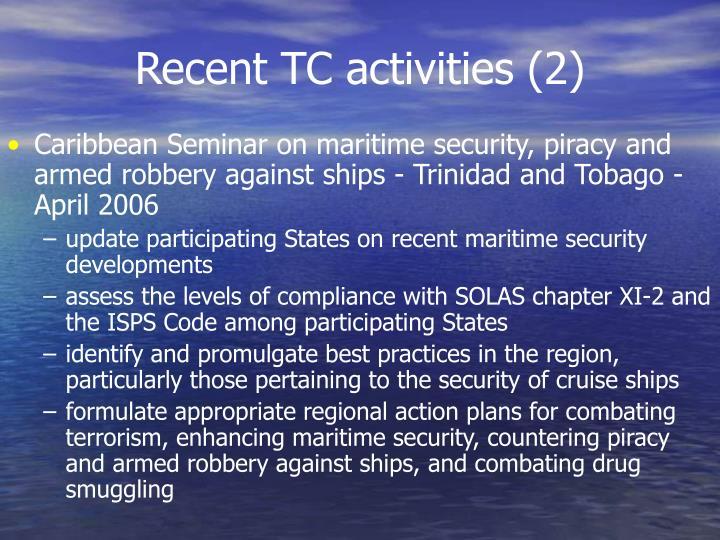Recent TC activities (2)
