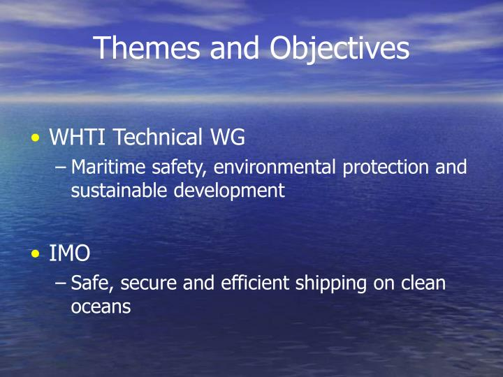 Themes and Objectives