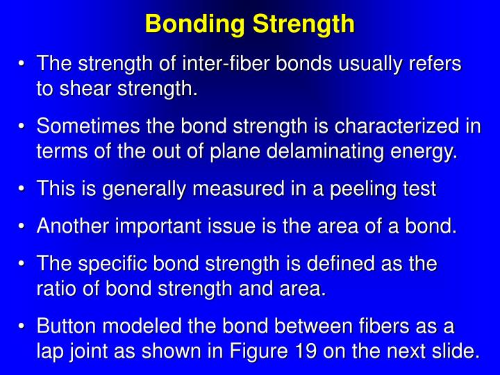 Bonding Strength