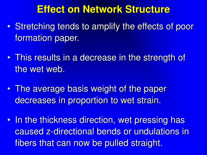 Effect on Network Structure