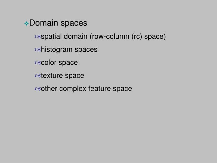 Domain spaces