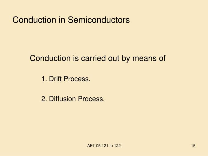 Conduction in Semiconductors