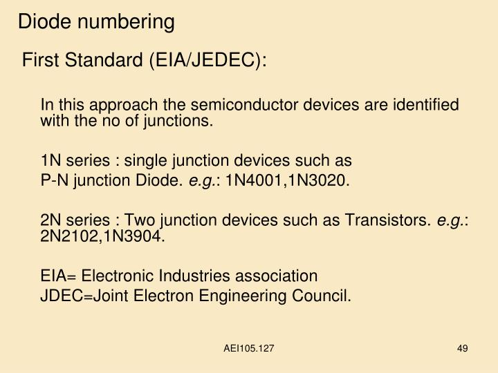 Diode numbering