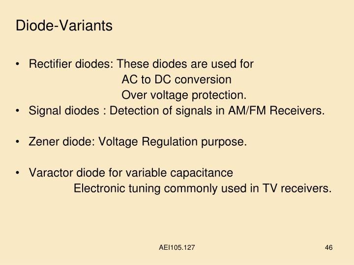 Diode-Variants