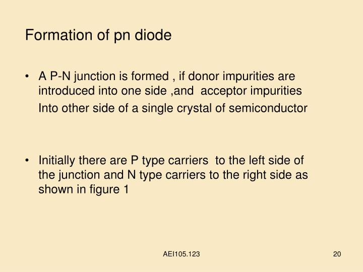 Formation of pn diode