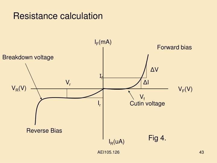 Resistance calculation
