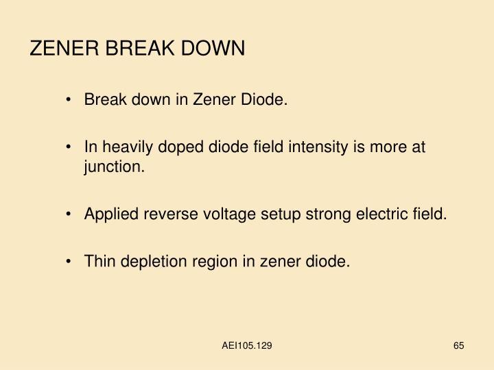 ZENER BREAK DOWN
