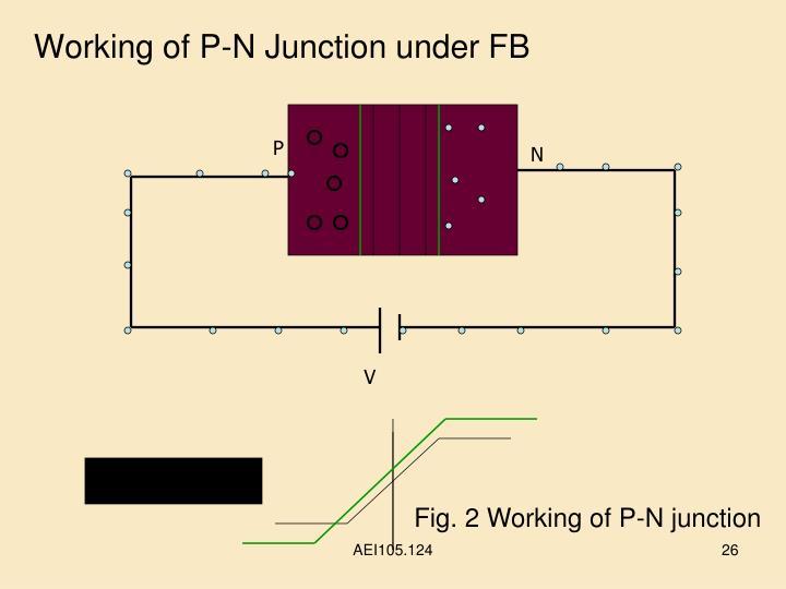 Working of P-N Junction under FB