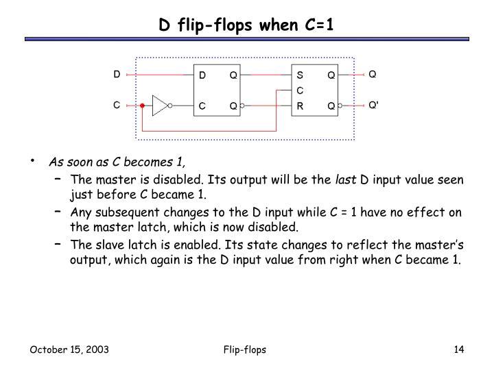 D flip-flops when C=1