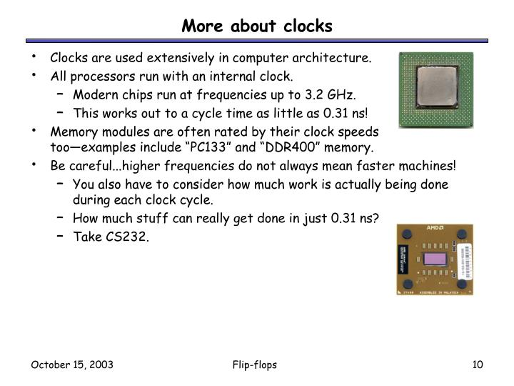 More about clocks