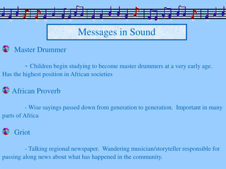 Messages in Sound