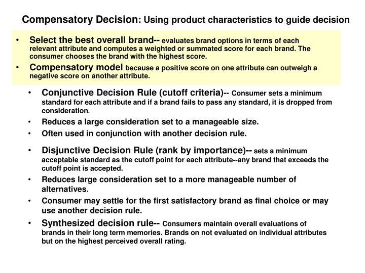 Compensatory Decision
